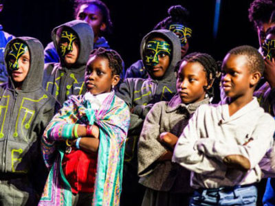 Hackney Empire Artist Development Programme helping Primary School pupils at Hackney Empire 2