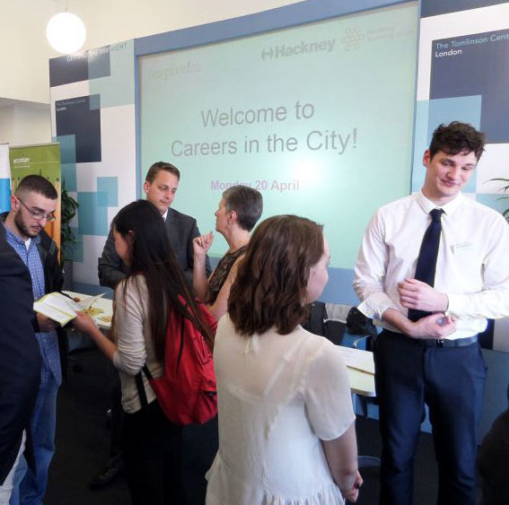 Sixth form students at Cardinal Pole Catholic School at speed networking event for Earn & Learn Programme