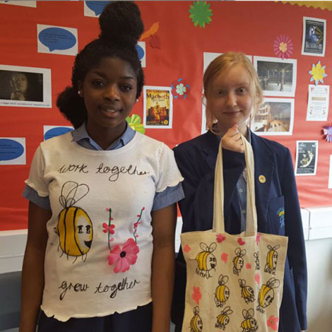 Our Lady's students show off their creations during Inspire's Custom Made enterprise session