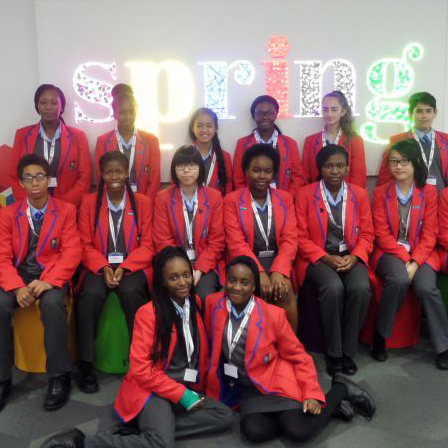 Year 9 students at City Academy in Hackney for the City Conferencing Business (CCB) programme