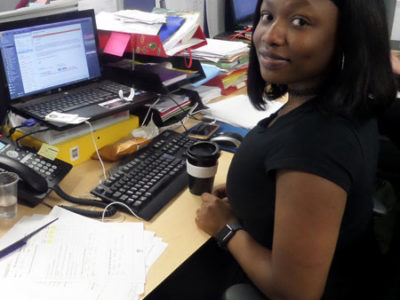 Olasubomi in the Inspire office