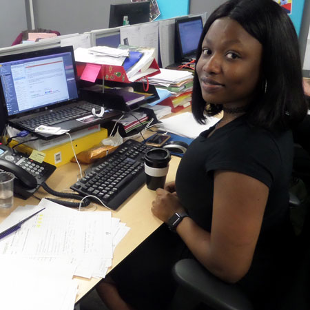Olasubomi in the Inspire office