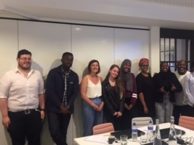 Haverstock School students with their work experience hosts