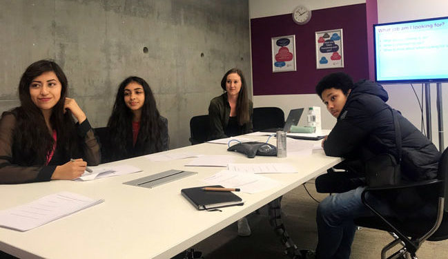 Work experience students learn employability skills at Cancer Research UK