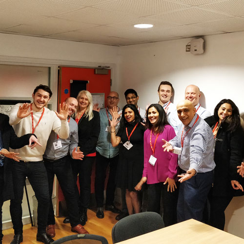 HSBC volunteers pose after taking part in the Get Ready for Work Experience session