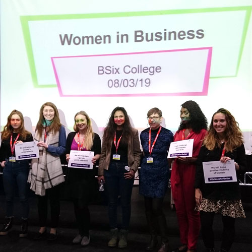 Women in business volunteering at BSix College to celebrate International Womens Day 2019