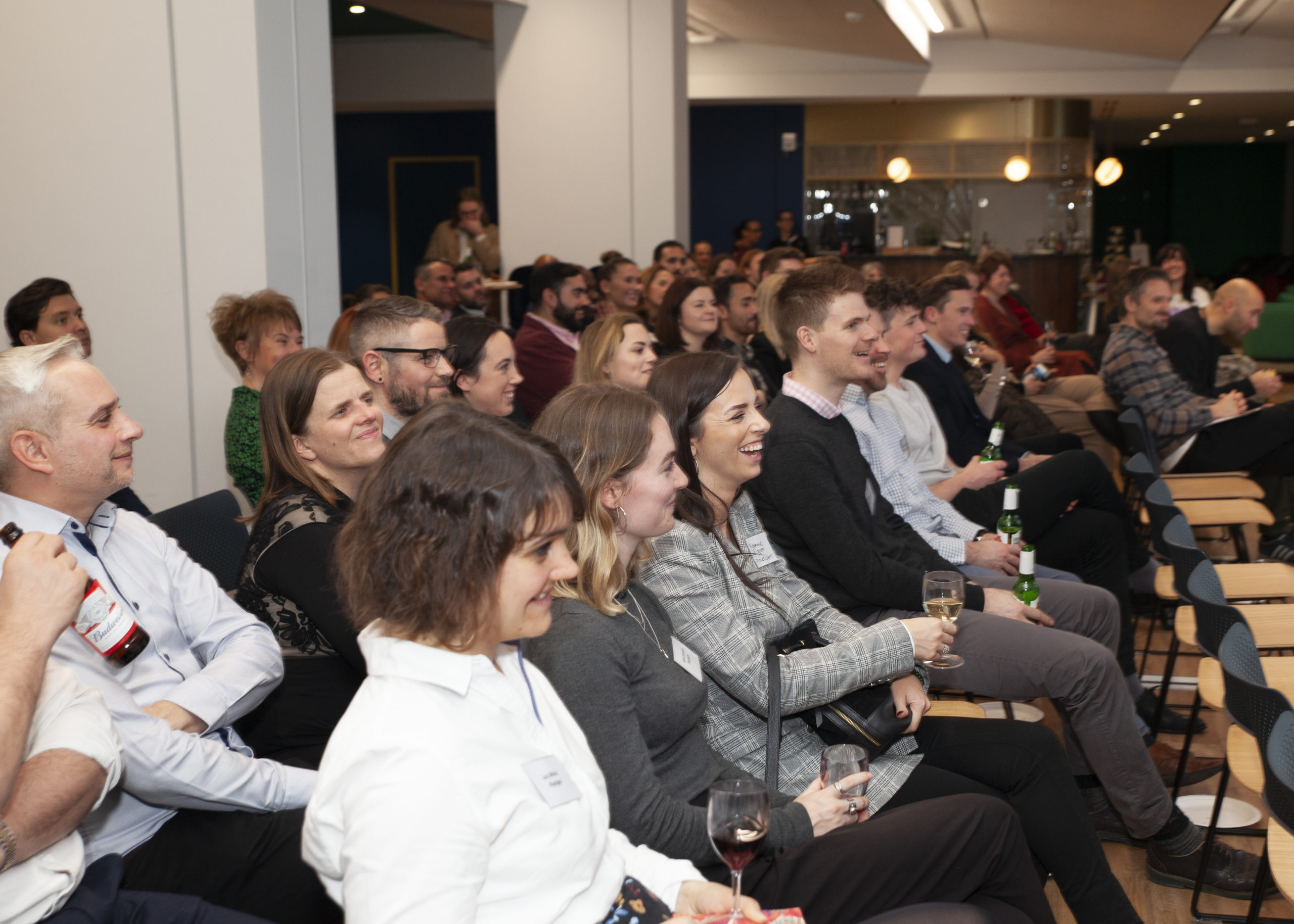 audience enjoys film at Inspire's supporters network launch